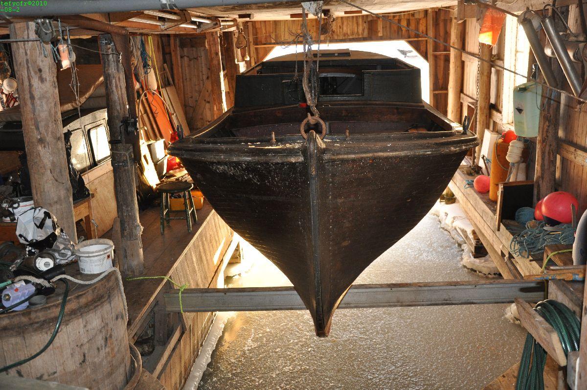 Båten vintrad