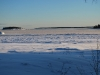 Isen lägger sig på havet